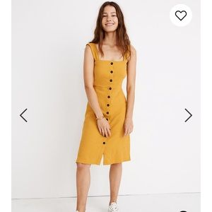 Madewell Texture & Thread Yellow Dress